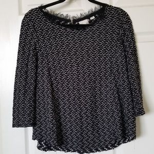 Anthropologie: 9-h15 stcl black and white sweater